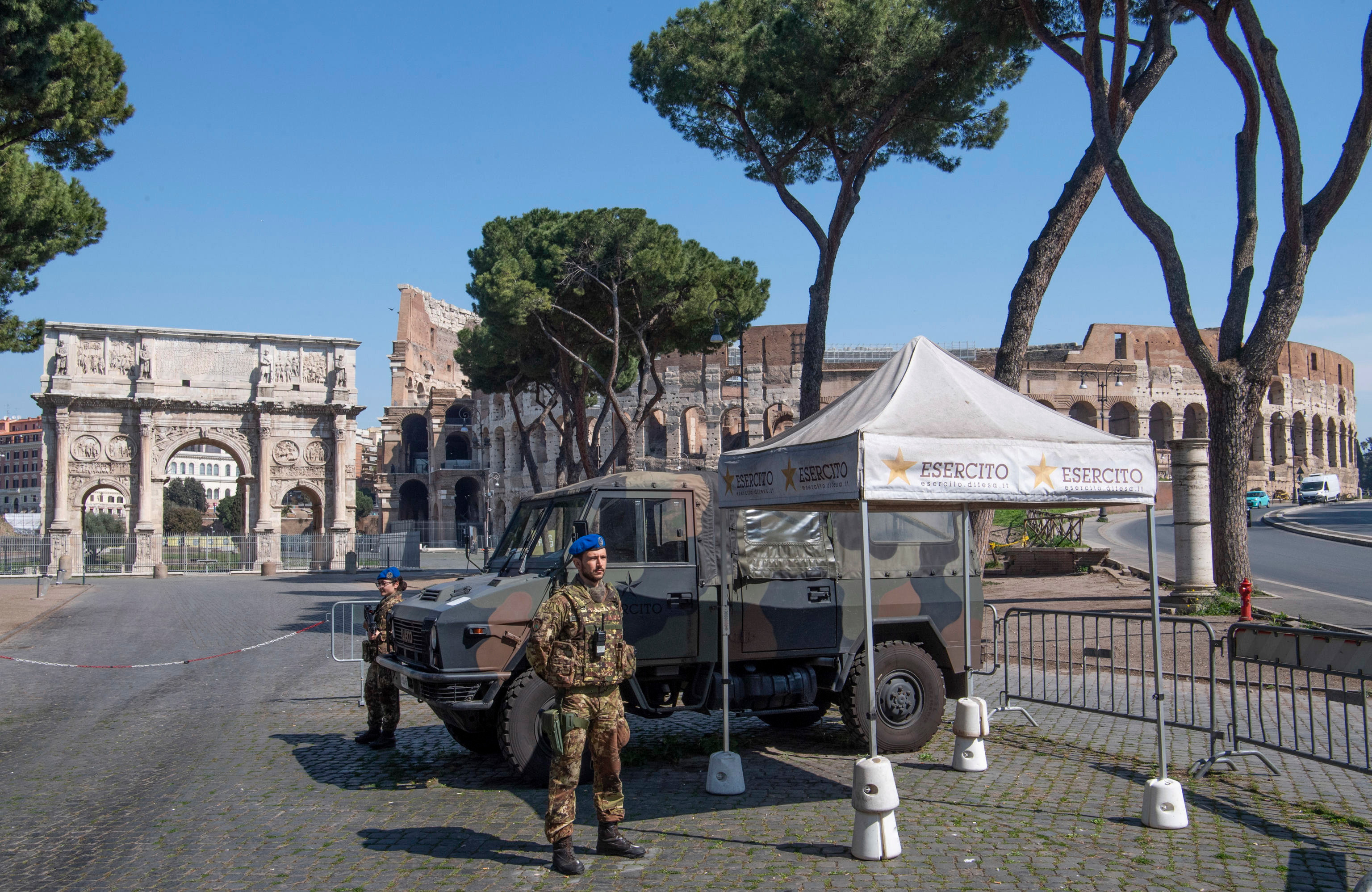 The Italian army is now patrolling the streets to enforce a lockdown