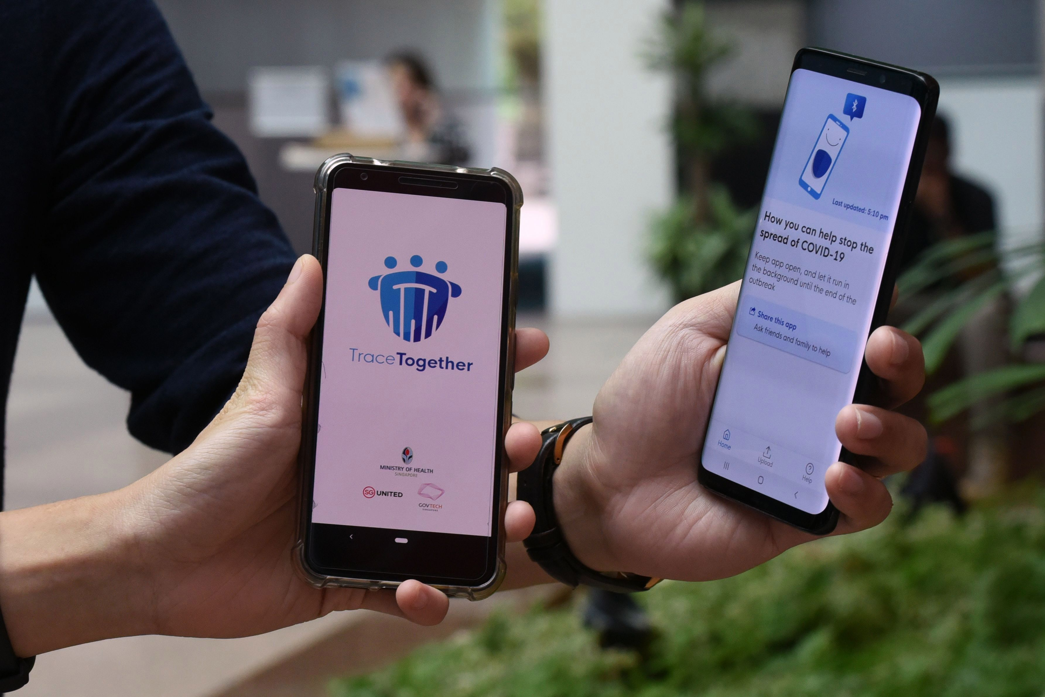 The country has developed a new app which uses Bluetooth signals to trace who a person may have come into contact with