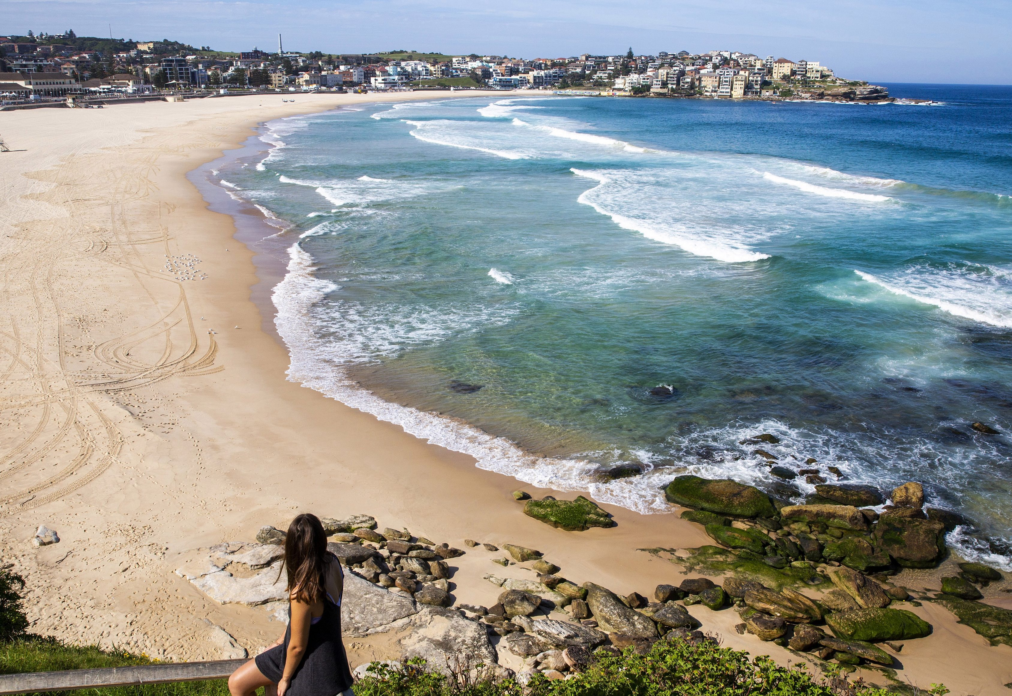 Bondi Beach is empty after being closed down