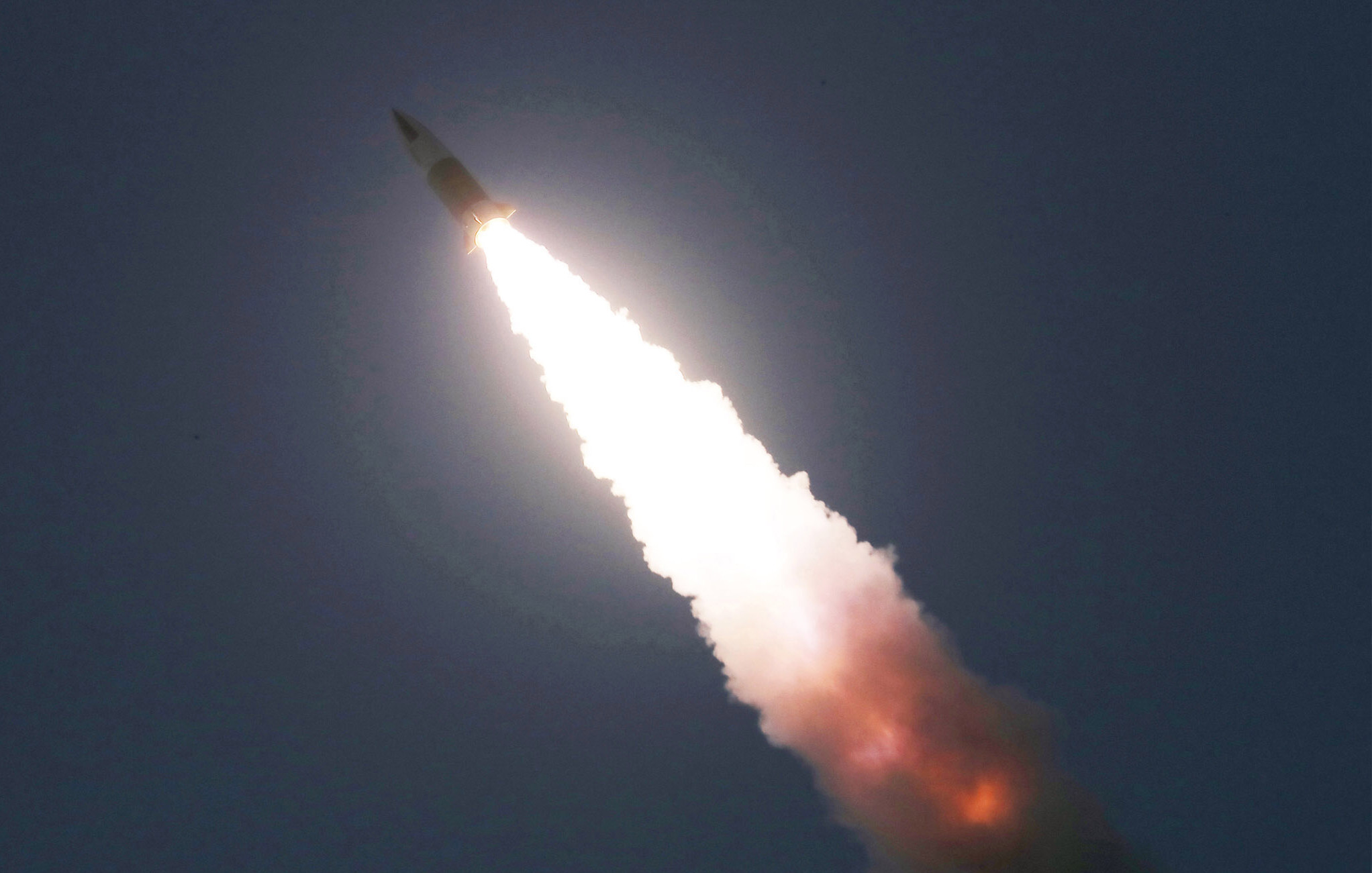 A picture released by North Korea of another launch earlier this month