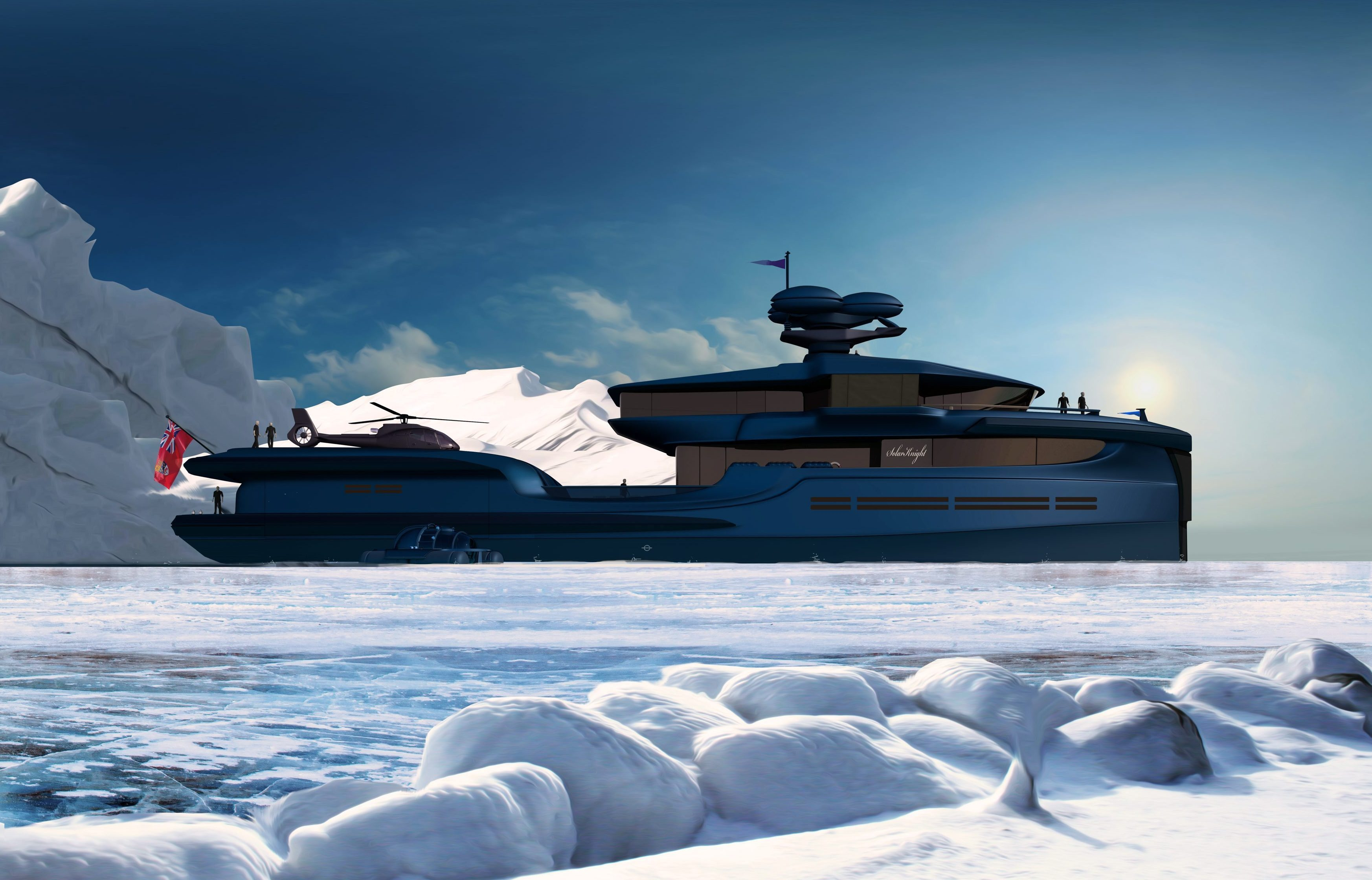 Green Expedition has a hull capable of sailing even in icy waters if you want to explore the Arctic