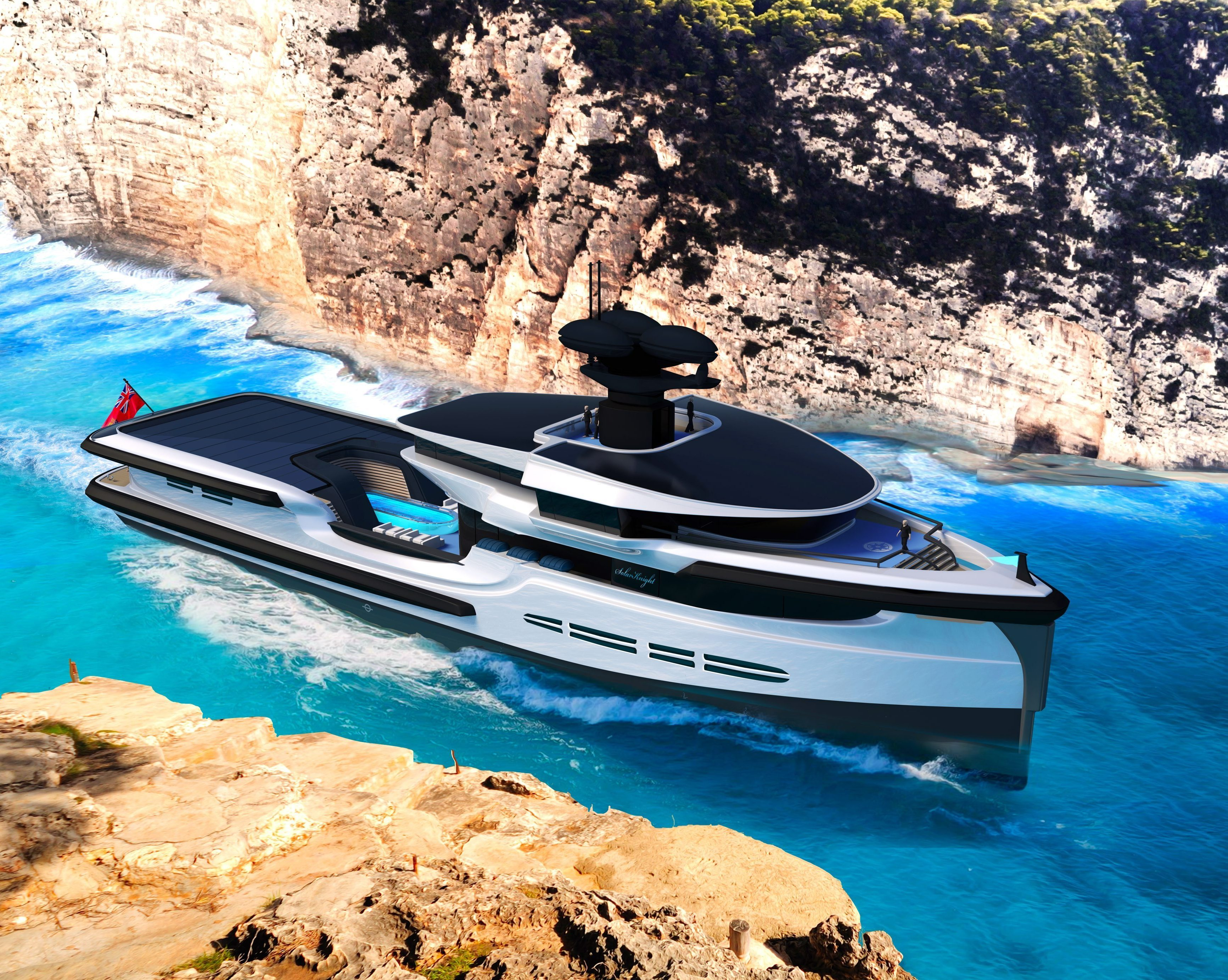 What better place to stay away from it all than on a luxurious £80m superyacht?