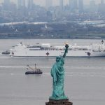 Hospital ship docks in New York as US coronavirus death toll nears China's