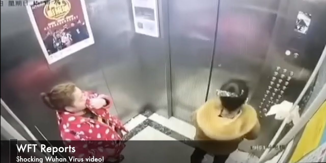 COVID 19 virus! Lady in China infecting elevator by spitting in elevator. Will she get arrested?