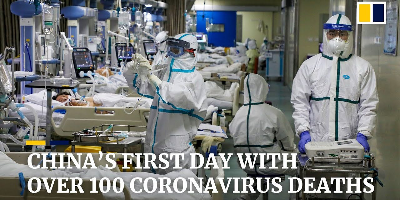 China sees first day with more than 100 coronavirus deaths reported as WHO urges 'containment'