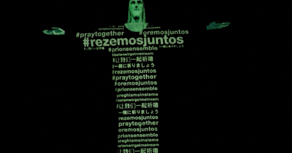 Coronavirus: Christ the Redeemer statue in Brazil lit up with flags of countries struck by outbreak