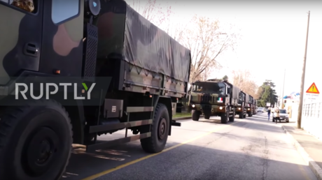 Italian army hauls Covid-19 victims' bodies to lesser-hit regions as medics decide who gets help first in makeshift tents (VIDEOS) — RT World News