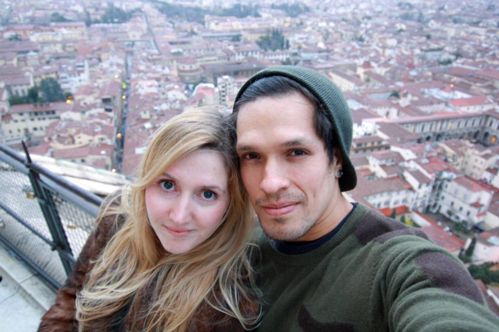 Caia Daly, 37 (L), is stuck in Peru with her husband Carlos Abisrror (R) and two young children, one of whom has pneumonia