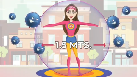 Mexico unveils superhero mascot promoting 'healthy distance' in a bid to halt coronavirus spread — RT World News