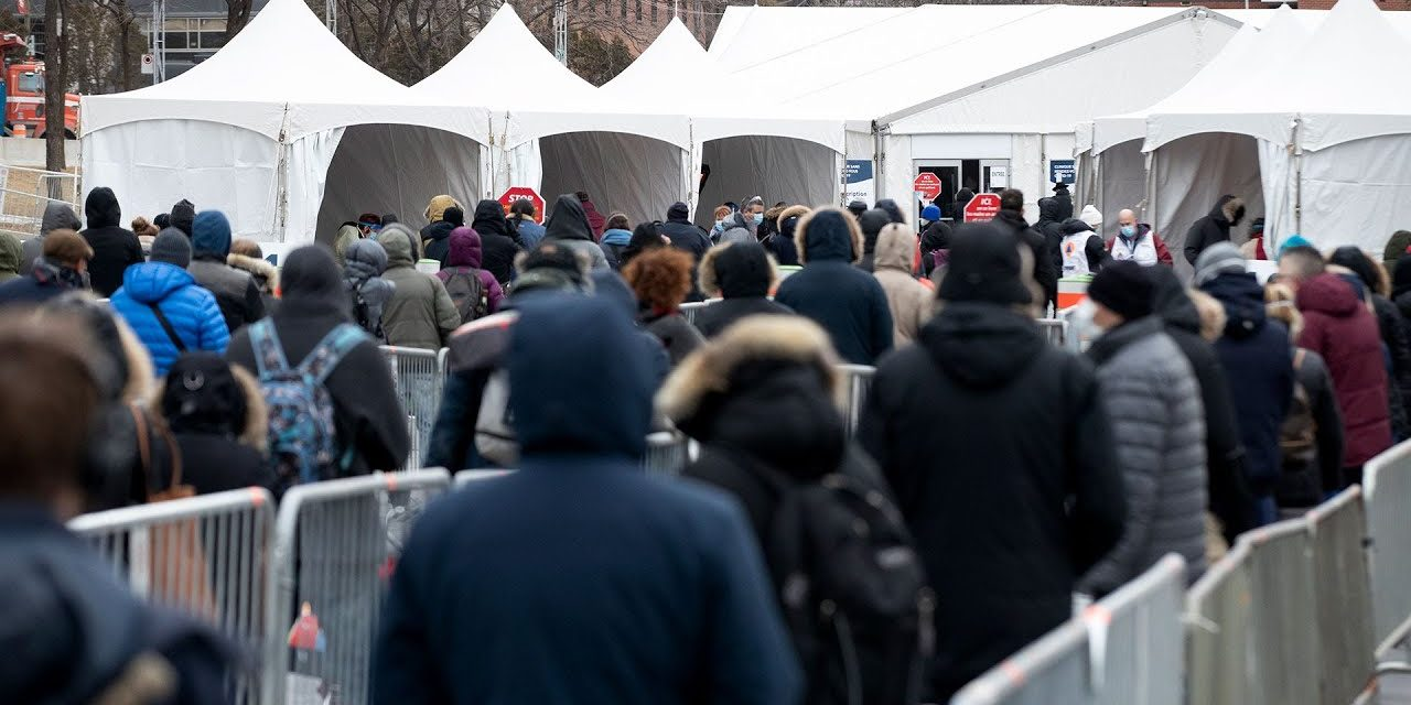 Montreal builds COVID-19 testing centre in Place des Festivals
