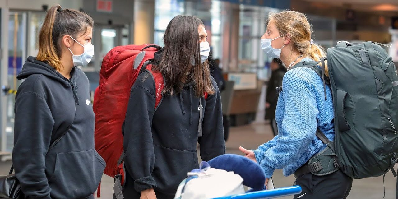 Passengers arriving at Montreal's Trudeau airport react to COVID-19 crisis