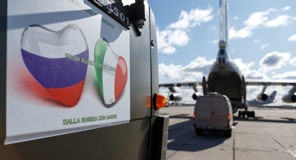 Russia Continues Sending Aircraft With Specialists, Supplies to Italy