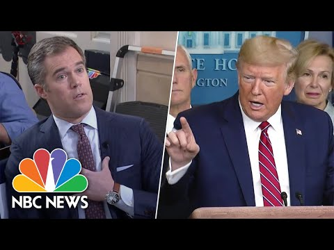 Trump Berates Peter Alexander Over Coronavirus Question: 'You're A Terrible Reporter' | NBC News