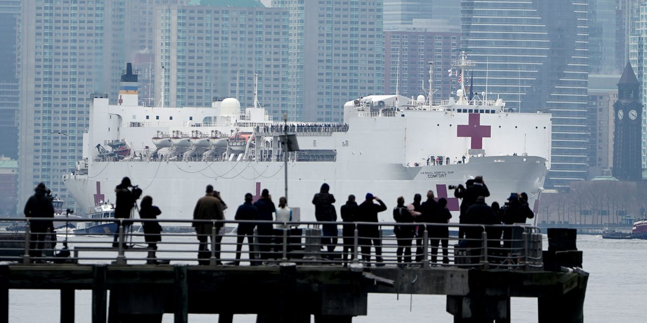 USNS Comfort's arrival draws crowds, California has ordered over 100 million N95 masks
