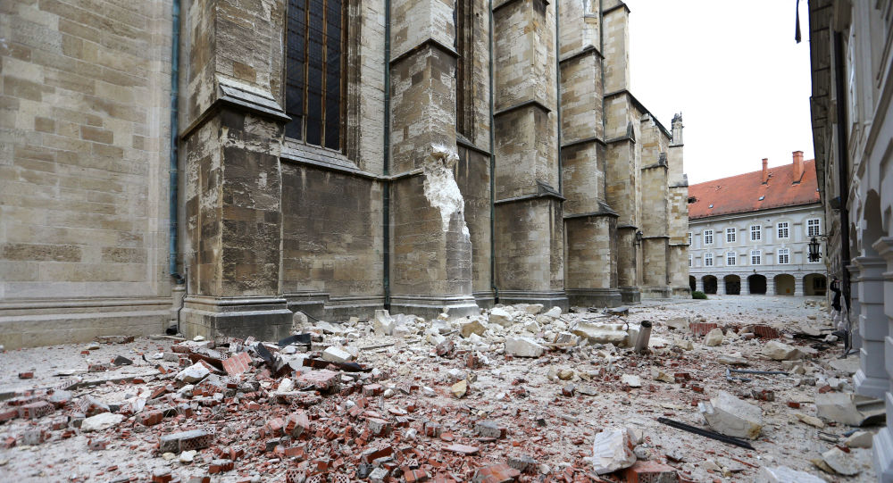 Video of Destruction and Rubble in Earthquake-Hit Croatian Capital Zagreb Emerges Online
