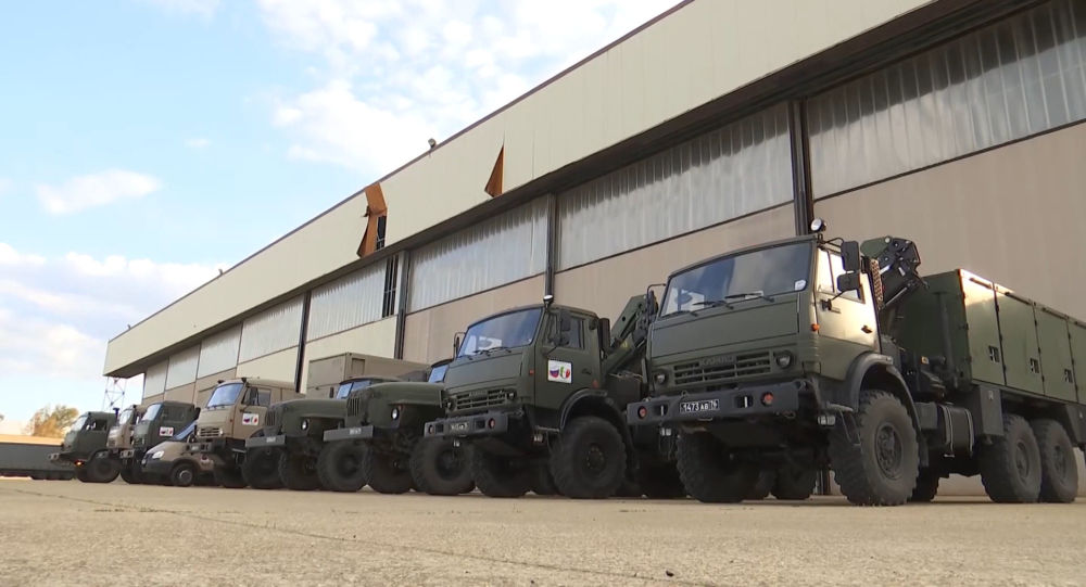 Watch Russian Military Medics on the Move to Bergamo, Italy to Assist Fight Against Coronavirus